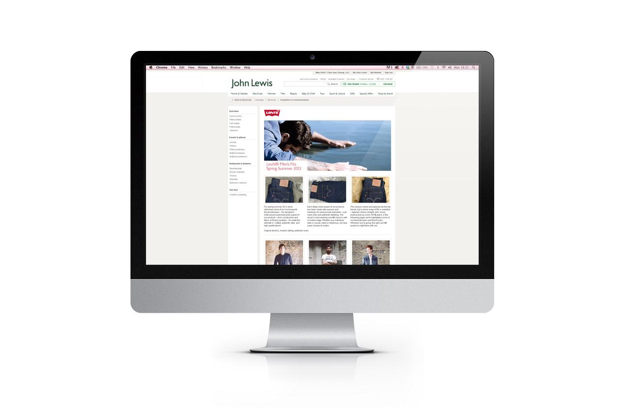 John Lewis - web design