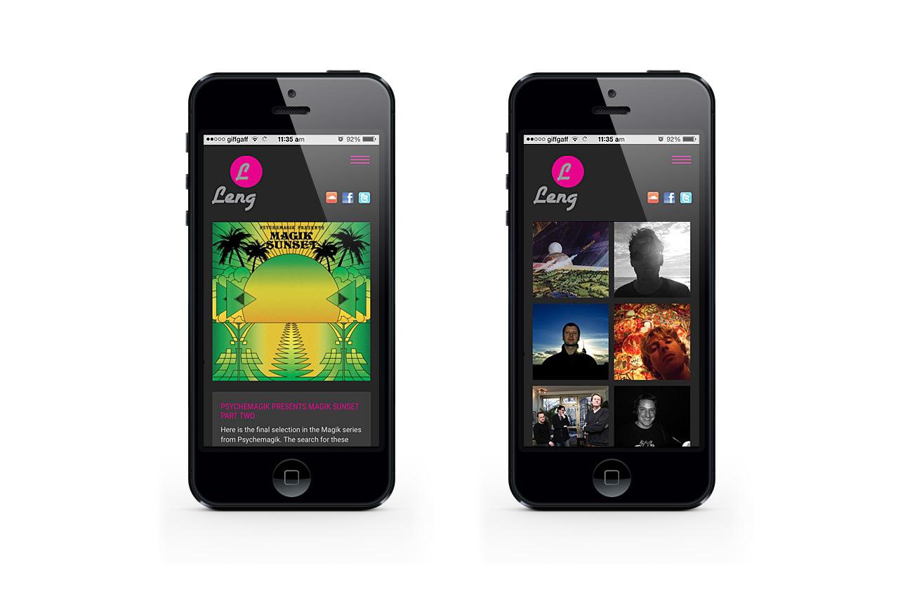 Leng Records - responsive website